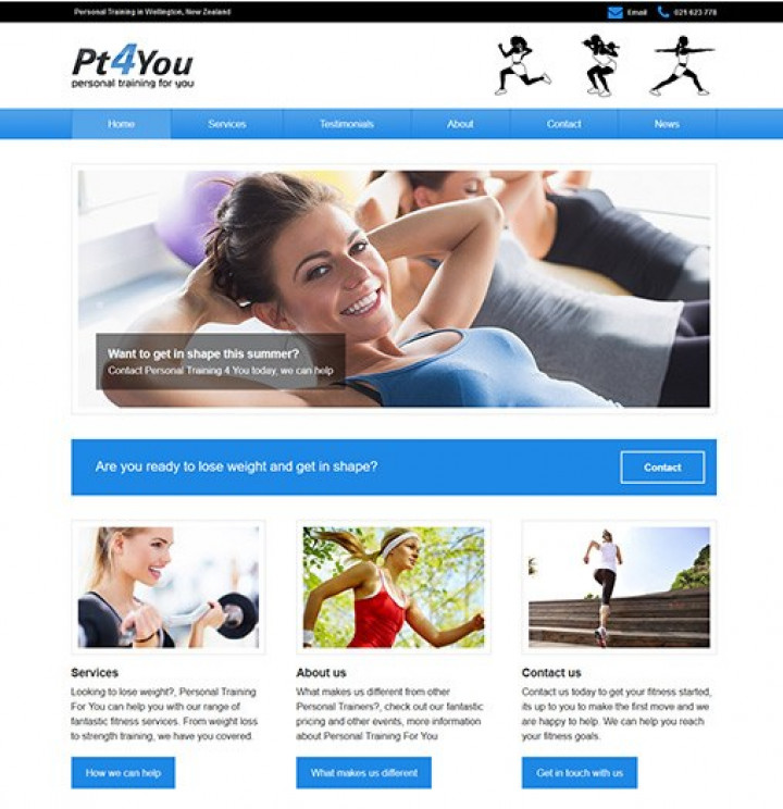 personal training for you website